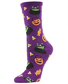 Women's Candy Halloween Crew Sock
