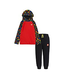 LEGO Little Boys Hooded Shirt and Joggers Set