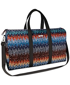 Receive a Complimentary Weekend Bag with any large spray purchase from the Missoni Men's Fragrance Collection