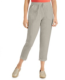 Delilah Cotton Cuffed Capri Pull-On Pants, Created for Macy's