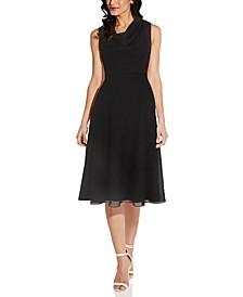 Cowlneck A-Line Dress