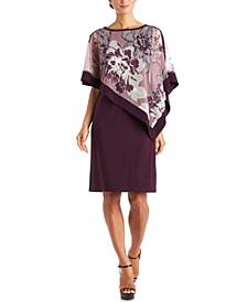 Floral Poncho Dress