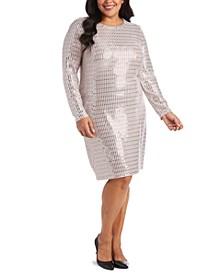 Trendy Plus Size Metallic Bodycon Dress