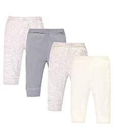 Toddler Boys and Girls 4 Piece Organic Cotton Pants
