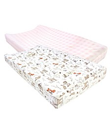 Baby Boys and Girls 2 Piece Cotton Changing Pad Cover
