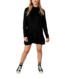 Women's Juliette Roll Neck Knit Mini Dress