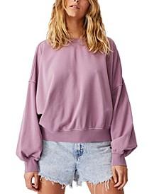 Women's Cleo Balloon Sleeve Crew Sweater