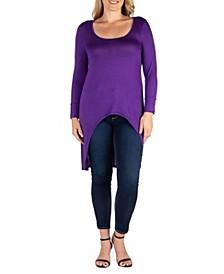 Women's Plus Size Long Sleeves Dolman Tunic Top