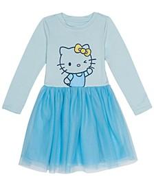 Little Girls Hello Kitty Dress with Mesh Skirt