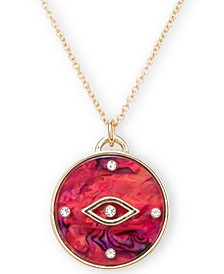 "Gold-Tone Crystal Evil Eye 20"" Pendant Necklace"