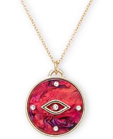 "Gold-Tone Crystal Evil Eye 20"" Pendant Necklace"