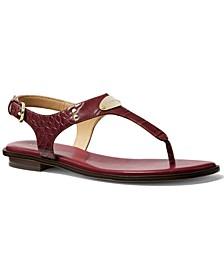 MK Plate Flat Thong Sandals