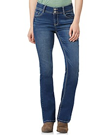 Juniors' Insta-Stretch Luscious Curvy Mid-Rise Bootcut Jeans