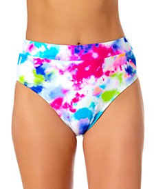 Tie-Dyed High-Waist Bikini Bottoms, Created for Macy's