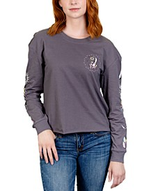 Juniors' Mystic Long-Sleeved Graphic T-Shirt