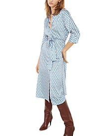 Printed Belted Shirtdress