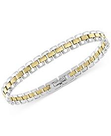 EFFY® Men's Two-Tone Watch Link Bracelet in Sterling Silver & 18k Gold-Plate