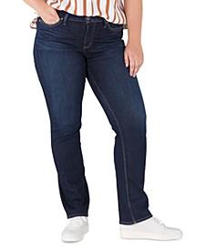 Plus Size Suki Mid-Rise Straight-Leg Jeans