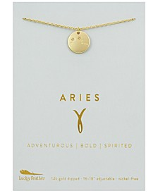 Zodiac Gold-Tone Charm Necklace, Aries