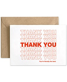 Spaghetti & Meatball Thank You Repeating Design - Boxed Set of 6 Cards