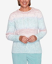 Women's Plus Size St. Moritz Chenille Biadere Sweater