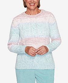 Women's Plus Size St. Moritz Chenille Biadere Sweater