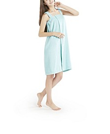Women's Solid Terry Wrap with Straps