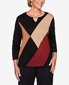 Women's Plus Size Catwalk Colorblock Sweater