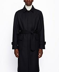 BOSS Men's Gibor Relaxed-Fit Belted Coat