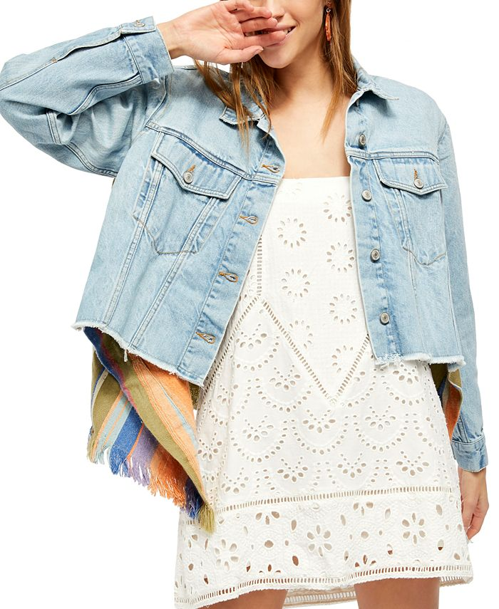 Free People - In the Sun Mixed-Media Jacket
