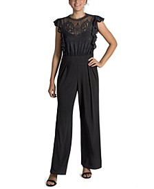 Lace-Illusion Jumpsuit