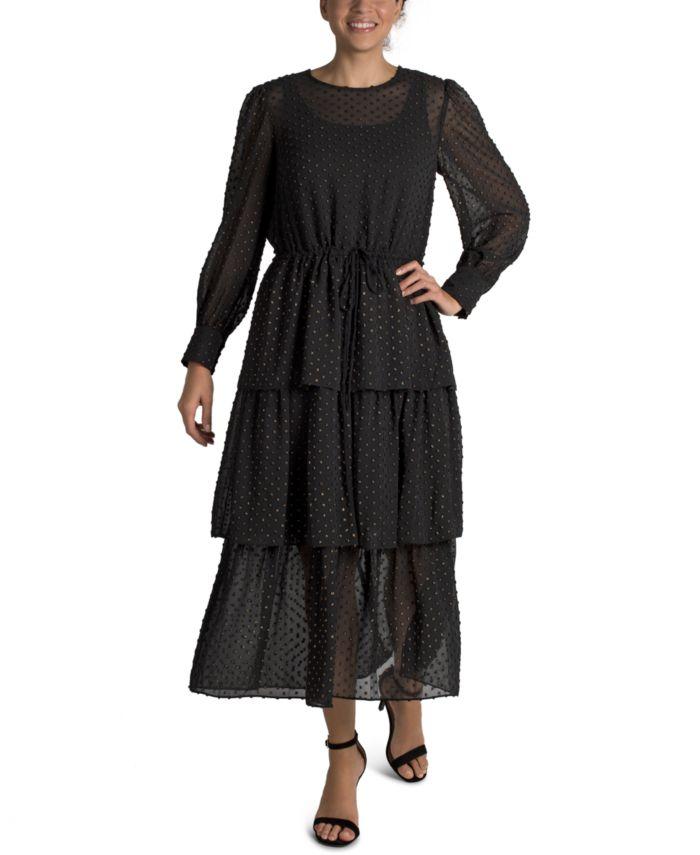 Julia jordan 3-Tier Ruffle Maxi Dress & Reviews - Dresses - Women - Macy's