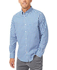 Men's Gingham Stretch-Poplin Shirt