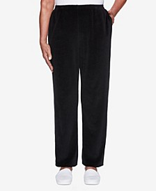 Women's Plus Size Modern Living Velour Proportioned Pant