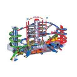 Dickie Toys Majorette Super City Garage Playset with 6 Die-Cast Cars