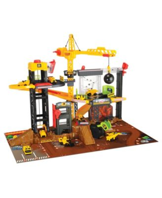 Dickie Toys Construction Playset with 4 Die-Cast Cars