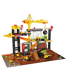 Construction Playset with 4 Die-Cast Cars