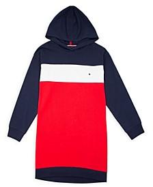 Big Girl's Colorblock Hooded Sweatshirt Dress
