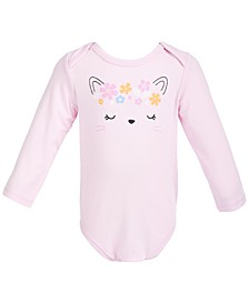 Baby Girls Cat Face Bodysuit, Created for Macy's