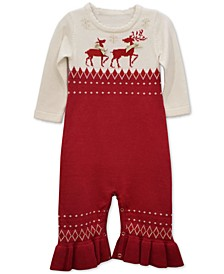 Baby Girls Reindeer Jumpsuit