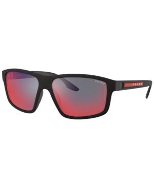Prada Sunglasses, Ps 02xs 60 In Black Rubber