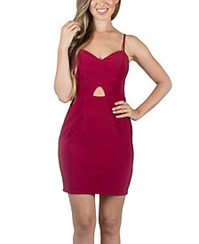 Juniors' Keyhole Bodycon Dress