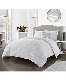 America Carol 4 Piece Comforter Set, King