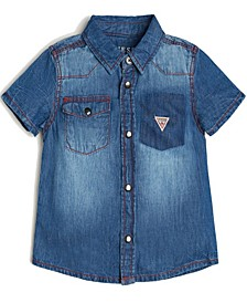 Baby Boys Short Sleeve Denim Shirt