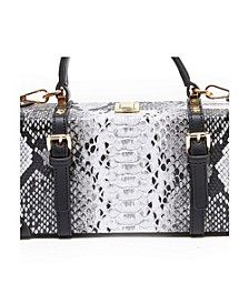Snakeskin Treasure Tote Box Bag