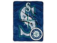 Seattle Mariners Micro Raschel 46x60 Triple Play Blanket