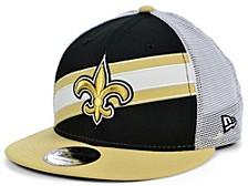 New Orleans Saints Diagonal Trucker 9FIFTY Cap