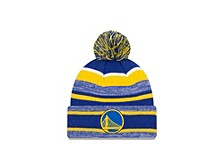 Golden State Warriors Striped Marled Knit Hat