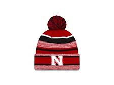 Nebraska Cornhuskers Striped Marled Knit Hat