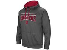 Indiana Hoosiers Men's Poly Performance Hooded Sweatshirt